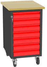 001506677 Wózek platformowy, 7 szuflad (wymiary: 830x505x605 mm)