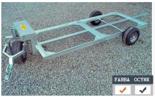 02938368 Wózek sadowniczy dwupaletowy W-2S, wersja: malowana (ładowność: 800 kg)