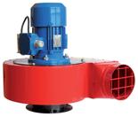 08549392 Wentylator promieniowy stanowiskowy WPA-5-E-3-N 400V (obroty synchroniczne: 3000 1/min, moc: 0,55 kW, wydajność wentylatora: 1900 m3/h)