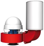 08549470 Wentylator przeciwwybuchowy promieniowy dachowy z wylotem pionowym WPA-9-D/Ex (obroty synchroniczne: 3000 1/min, moc: 2,2 kW, wydajność wentylatora: 4500 m3/h)