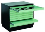 99551803 Szafa do przechowywania rysunków A1 0,8-1,5mm, 10 szuflad (wymiary: 770x970x670 mm)