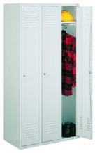 99552127 Szafka ubraniowa 0,6mm, zamek ryglujący drzwi w 3 punktach, 3 drzwi (wymiary: 1800x900x490 mm)