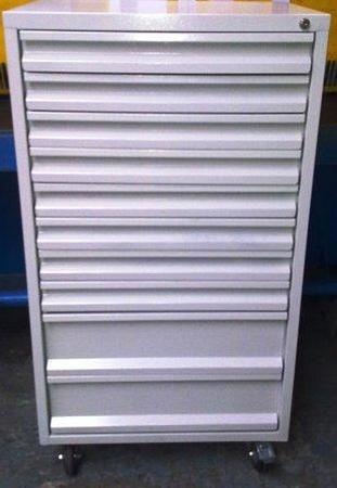 77157352 Wózek narzędziowy, 10 szuflad (wymiary: 1250x600x600 mm)