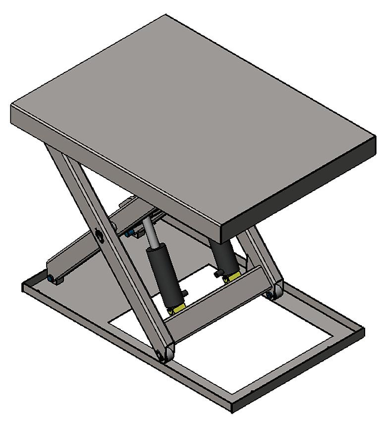 Zaawansowane 01860194 Podnośnik, podest nożycowy, cylindry ze stali nierdzewnej PI22