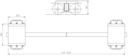 DOSTAWA GRATIS! 4993998 Podwozie transportowe (nośność: 20T)