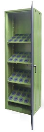 00853987 Szafa jednodrzwiowa do opraw narzędziowych ISO, 60 gniazd (wymiary: 2001x602x451 mm)