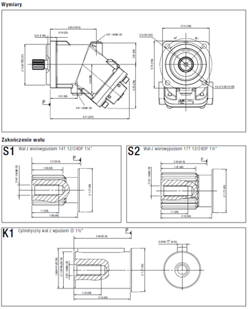 DOSTAWA GRATIS! 01538909 Silnik hydrauliczny tłoczkowy Hydro Leduc (objętość robocza: 90 cm³, maksymalna prędkość ciągła: 4500 min-1 /obr/min)