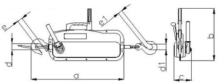 DOSTAWA GRATIS! 2203111 Wciągnik linowy, rukcug 30.00/1.6t (długość liny: 30m, udźwig: 1,6 T)