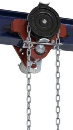DOSTAWA GRATIS! 22038962 Wózek jedno-belkowy z napędem ręcznym Z420-A/1.0t/9m (wysokość podnoszenia: 9m, szerokość dwuteownika od: 50-113mm, udźwig: 1 T)