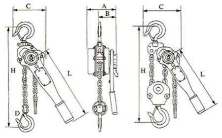 DOSTAWA GRATIS! 22043656 Wciągnik łańcuchowy, rukcug z dźwignią ZKS 3,0 1,5M (wysokość podnoszenia: 1,5m, udźwig: 3 T)