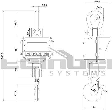 DOSTAWA GRATIS! 45643489 Waga hakowa Steinberg Systems LCD (udźwig: 5T)