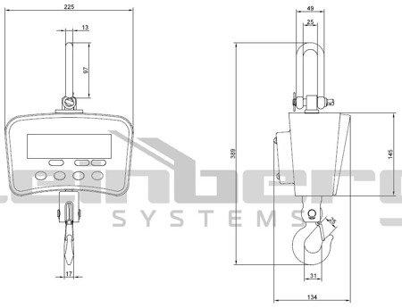 DOSTAWA GRATIS! 45643501 Waga hakowa Steinberg Systems LCD (udźwig: 1T)