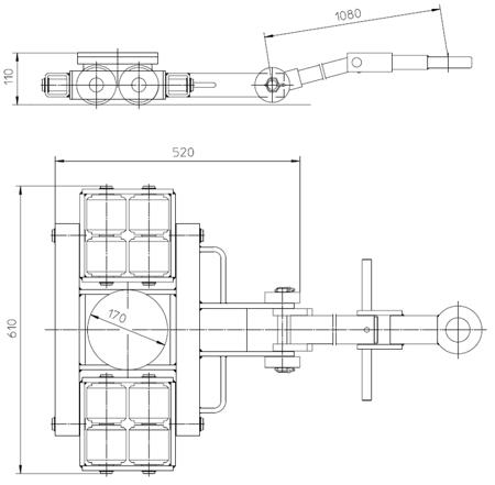 DOSTAWA GRATIS! 4993991 Podwozie transportowe (nośność: 6T)
