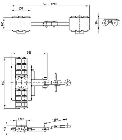 DOSTAWA GRATIS! 49972674 Zestaw podwozi transportowych (nośność: 18T)