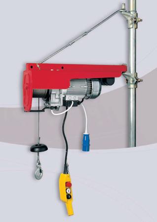 DOSTAWA GRATIS! 55547200 Wciągarka budowlana linowa elektryczna + zdalne sterowanie z niskim napięciem (udźwig: 200 kg, długość liny: 25m)