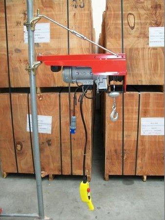 DOSTAWA GRATIS! 55547202 Wciągarka budowlana linowa elektryczna + zdalne sterowanie z niskim napięciem (udźwig: 200 kg, długość liny: 40m)