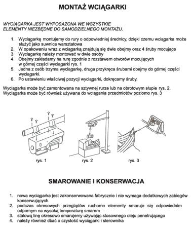DOSTAWA GRATIS! 55951165 Wyciągarka linowa elektryczna Industrial 500/990 230V, hamulec automatyczny (udźwig: 500/990 kg)  stare 1200 kg + wózek elektryczny 1T bez UDT!!!