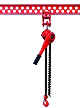 DOSTAWA GRATIS! 9588181 Wciągnik łańcuchowy dźwigniowy, rukcug, łańcuch Galla (udźwig: 2,5 T, wysokość podnoszenia: 1,5m)