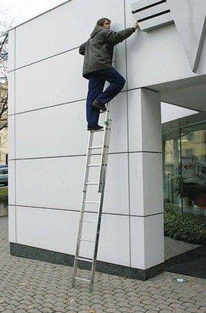 DOSTAWA GRATIS! 99674731 Drabina aluminiowa Aloss 2x11 na schody (wysokość robocza: 6,50m)