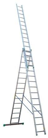 DOSTAWA GRATIS! 99674941 Drabina aluminiowa 3x7 Drabex na schody (wysokość robocza: 5,40m)