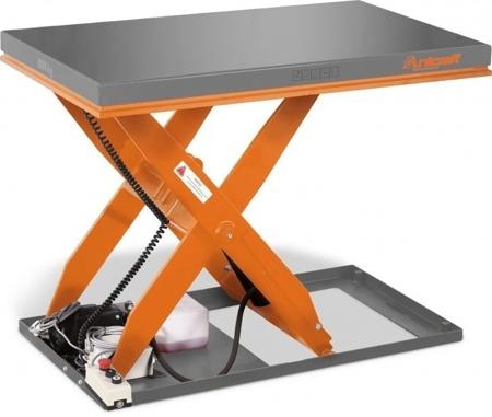 Hydrauliczny nożycowy stół podnośny Unicraft (udźwig: 2000 kg, wymiary: 1300x800 mm, podnoszenie min/max: 190/1010 mm) 32240151