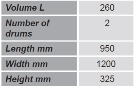 Paleta do transportu beczek GermanTech (ilość beczek: 2, wymiary: 950x1200x325 mm) 99724714