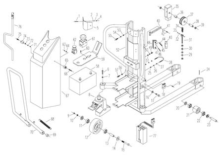 SWARK Wózek paletowy podnośnikowy elektryczny z przechyłem GermanTech (max wysokość: 900 mm, udźwig: 800 kg, długość wideł: 1140 mm) 99724829