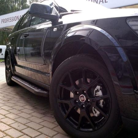 Stopnie boczne, czarne - Volvo XC60 (długość: 182 cm) 01655979