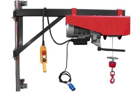 Wciągarka elektryczna linowa budowlana + lina 30m + sterowanie ręczne 1,5m (udźwig: 300 kg) 08126406