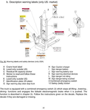 Wózek paletowy elektryczny GermanTech (udźwig: 1000 kg, długość wideł: 1150 mm, wysokość podnoszenia: 2900 mm) 99746694