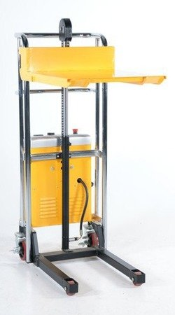 Wózek paletowy/platformowy podnośnikowy elektryczny GermanTech (max wysokość: 85-1200 mm, udźwig: 400 kg, długość wideł: 650 mm) 99724819
