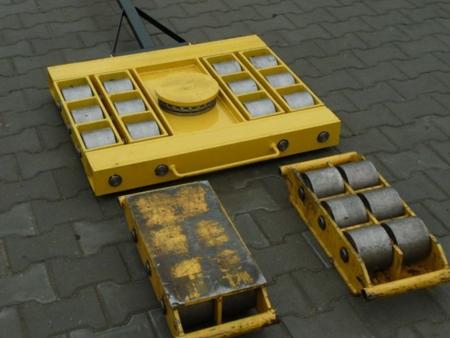 Wózek skrętny 12 rolkowy, rolki: 12x stal (nośność: 60 T) 12235608