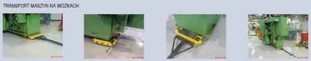 Wózek skrętny 8 rolkowy, rolki: 8x nylon (nośność: 6 T) 12235602