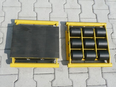 Wózek stały 9 rolkowy, rolki: 9x kompozyt (nośność: 18 T) 12235597
